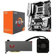 AMD RADEON VEGA AQUA PACK + AMD Ryzen 7 1800X + MSI X370 - Set