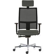 EMAGRA TAU šedá s hliníkovým křížem - Kancelářská židle