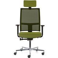 EMAGRA TAU zelená s hliníkovým křížem - Kancelářská židle