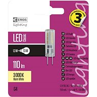 EMOS LED žárovka Classic JC A++ 1,3W G4 teplá bílá - LED žárovka