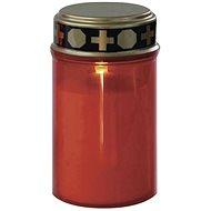 EMOS LED hřbitovní svíčka se senzorem, 2× AA, červená