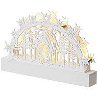 EMOS LED vánoční betlém, 23 cm, 3× AA, teplá bílá, časovač - Vánoční osvětlení