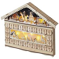 EMOS LED Advent Calendar, 19x40cm, 2x AA, Indoor, Warm White - Christmas Lights