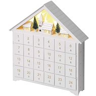 EMOS LED Advent Calendar, 35x30cm, 2x AA, Indoor, Warm White - Christmas Lights