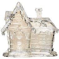 EMOS LED vánoční domek akrylový, 15 cm, 3× AAA, teplá bílá