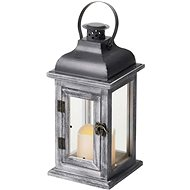 EMOS LED Decoration - Wooden Lantern, 2 × AA, Grey, Vintage, - Christmas Lantern