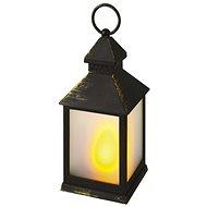 EMOS LED dekorace –  lucerna mléčná, černá, vintage - Vánoční lucerna