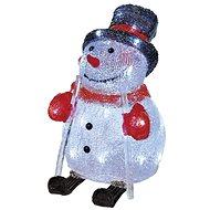 EMOS LED vánoční sněhulák, 28 cm, venkovní, studená bílá, časovač - Vánoční osvětlení