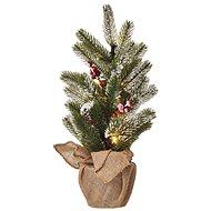 EMOS LED vánoční stromek, 52 cm, 3× AA, vnitřní, teplá bílá, časovač