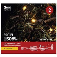 EMOS Profi LED Connecting Chain Black - Cluster, 3m, Warm White