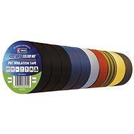 EMOS Izolační páska PVC 15mm / 10m barevný mix, 10 ks