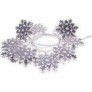 EMOS LED girlanda - vločky kovové, 3xAA, teplá bílá, časovač - Vánoční osvětlení