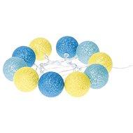 EMOS LED girlanda - koule bavlněné, léto, 2xAA, teplá bílá, čas. - Vánoční osvětlení