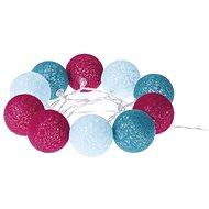 EMOS LED girlanda - koule bavlněné, jaro, 2xAA, teplá bílá, čas. - Dekorativní osvětlení