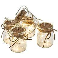 EMOS LED vánoční girlanda – 5× skleničky, 3×AA, teplá bílá, čas. - Vánoční osvětlení