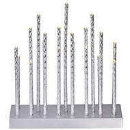 EMOS LED Christmas Decoration - Silver candleholder, 3 × AA, pulse. b., time. - Christmas Lights