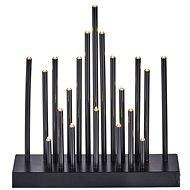 EMOS LED vánoční dekorace – černý svícen, 3×AA, teplá bílá, čas. - Vánoční svícen