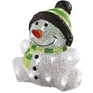 EMOS LED Christmas Snowman, IP44, cold white, timer - Christmas Lights