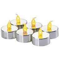 EMOS LED Christmas Decorations - Candle, Tea, Silver, 6 × CR2032 - Christmas Lights