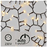 LED Christmas Chain - Cluster, Outdoor, 4m, Warm White, Timer