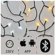 Aplikací ovládaný LED vánoční řetěz, 15m, venkovní, studená/teplá bílá - Vánoční řetěz
