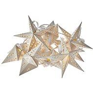 LED vánoční girlanda – hvězdy, 2x AA, teplá bílá, časovač - Dekorativní osvětlení