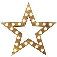 LED vánoční hvězda, 37cm, 2x AA, vnitřní, teplá bílá - Svítící hvězda