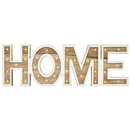 LED nápis HOME dřevěný, 45cm, 2x AA, vnitřní, teplá bílá