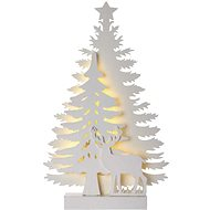 LED Christmas  Tree, 23cm, 2x AA, Indoor, Warm White, Timer - Christmas Lights