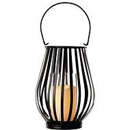 LED dekorace – lucerna svislá mřížka, 3x AAA, blikající, teplá bílá - Vánoční lucerna