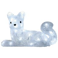 LED vánoční liška, 32cm, venkovní, studená bílá, časovač - Vánoční osvětlení