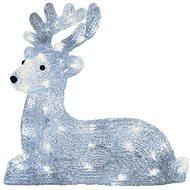LED vánoční sob, 31cm, venkovní, studená bílá, časovač - Dekorativní osvětlení