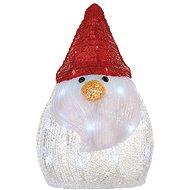 LED vánoční sněhulák, 30cm, 3x AA, studená bílá, časovač