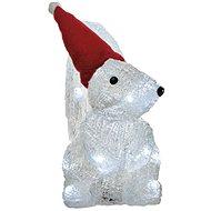 LED vánoční veverka, 22cm, 3x AA, studená bílá, časovač - Vánoční osvětlení