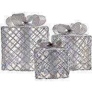 LED dárky, 3 velikosti, venkovní, studená bílá, časovač - Dekorativní osvětlení