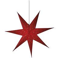 LED vánoční hvězda papírová červená, 75cm, 2x AA, teplá bílá - Dekorativní osvětlení