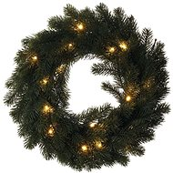 LED vánoční věnec, 40cm, 2x AA, vnitřní, teplá bílá - Dekorativní osvětlení