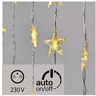 LED vánoční závěs – hvězdy, 120x90cm, venkovní, teplá bílá, časovač - Dekorativní osvětlení