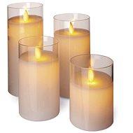 LED svíčky, 5x10/12,5/15/17,5cm, bílé, 2x AA, 4 ks - Dekorativní osvětlení
