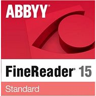 OCR software ABBYY FineReader 15 Standard (elektronická licence)