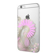 Epico Hoco Flower pro iPhone 6/6S transparentní bílá/růžová