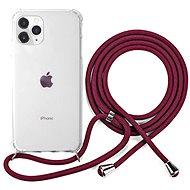 Epico Nake String Case iPhone 11 Pro Max - bílá transparentní / červená - Kryt na mobil