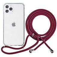 Epico Nake String Case iPhone 12/12 Pro bílá transparentní/červená - Kryt na mobil