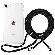 Epico Nake String Case iPhone 7/8/SE - bílá transparentní / černá