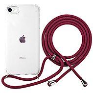 Epico Nake String Case iPhone 7/8/SE - bílá transparentní / červená - Kryt na mobil