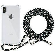 Epico Nake String Case iPhone X/XS - bílá transparentní / černo-bílá - Kryt na mobil