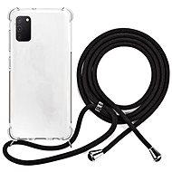 Kryt na mobil Epico Nake String Case Samsung Galaxy A41 - bílá transparentní / černá