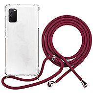 Epico Nake String Case Samsung Galaxy A41 - bílá transparentní / červená - Kryt na mobil
