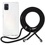 Epico Nake String Case Samsung Galaxy A51 - bílá transparentní / černá - Kryt na mobil