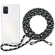Epico Nake String Case Samsung Galaxy A51 - bílá transparentní / černo-bílá - Kryt na mobil